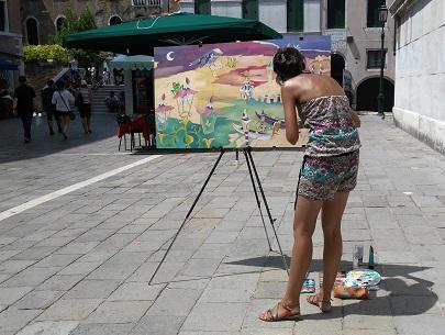 lezione di pittura con Noemì