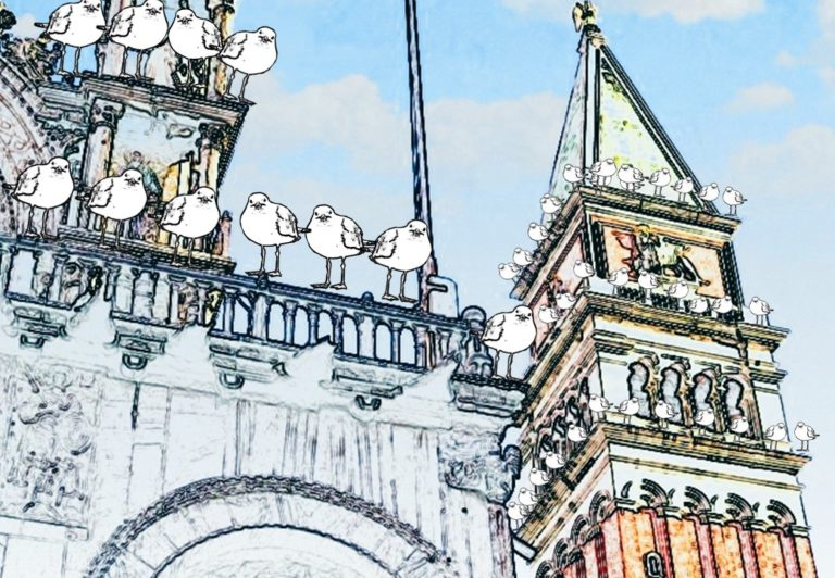 Gabbiani sul Campanile di San Marco