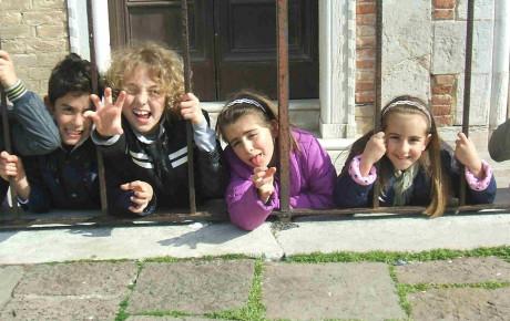Kids having fun Venice